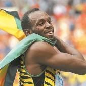 Showrennen von Usain Bolt in Buenos Aires