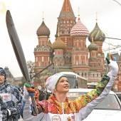 Fackellauf nach Sotschi startete in Moskau