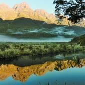 Die Mirror Lakes am Morgen
