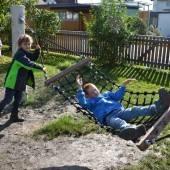 Altachs Volksschüler feiern neuen Pausenhof