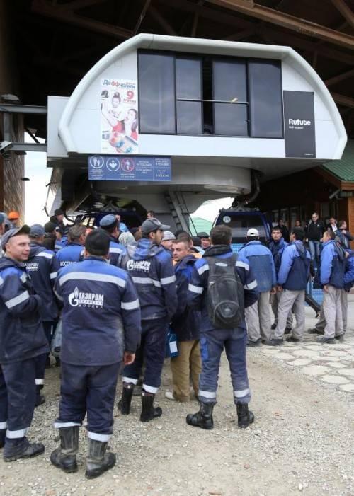 Fast alle Seilbahnen und Skilifte in Sotschi sind startbereit. gepa
