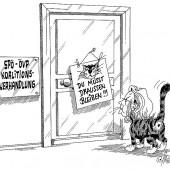 Mizzi Fekter vor der Tür!