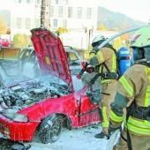 Feuerwehrübung in Dornbirn