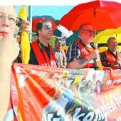 Gewerkschafter machten ihrem Ärger Luft