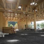 Altstoffsammelzentrum in Feldkirch unter Dach