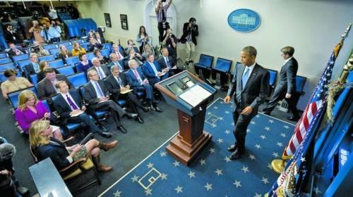 Kurzfristige Lösung gefunden: Hätte der Kampf ums Schuldenlimit länger gedauert, wäre Obama über Nacht zum Krisenmanager geworden. Foto: AP