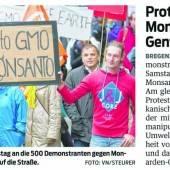 Monsanto-Demonstration: Uninteressierte Politik