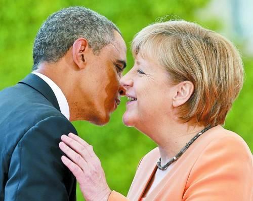 Wahre Freundschaft? Merkel mit Barack Obama im Juni. Foto: AP