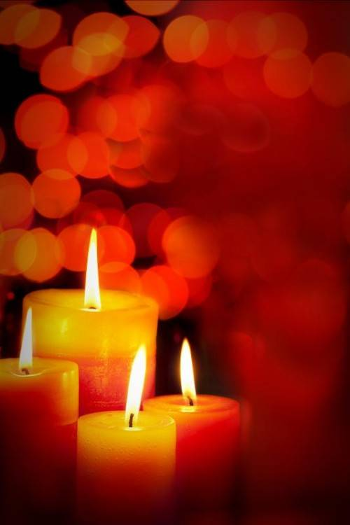 candles with a soft background
