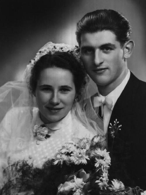 Das Paar an seinem Hochzeitstag.
