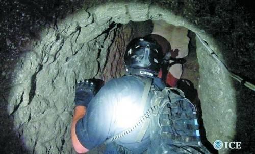 """Der """"Drogentunnel"""", der offenbar noch nicht in Gebrauch genommen worden war, führt von Tijuana nach San Diego. Fotos: Reuters (Handout)"""