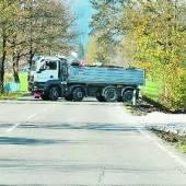 Bundesstraße blockiert
