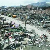 Taifun erinnert an Tsunami