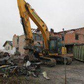 Weingarten wird derzeit abgerissen