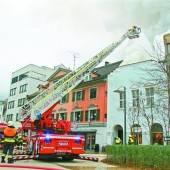 Dachstuhl brannte lichterloh