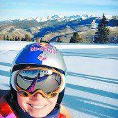 Lindsey Vonn wieder auf Skiern