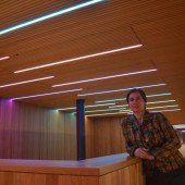 Miriam Prantl realisierte die Kunst am Bau beim Illwerke Zentrum Montafon
