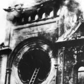 Die brennende Synagoge in Berlin-Charlottenburg