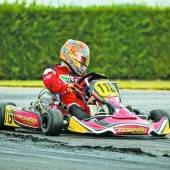 Kart-Champion Hold im Pech