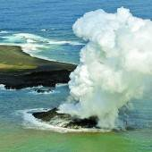Vulkan lässt Insel entstehen