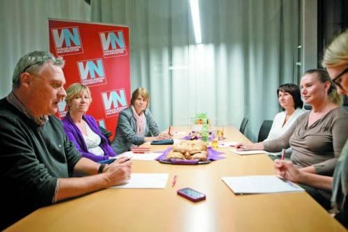 Rosemarie Hammerer, Roswith Bösch und Susanne Marosch waren zu Gast in der VN-Redaktion. Foto: VN/Hartinger