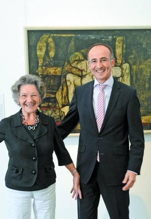 Tobias Natter und Sammler-Witwe Elisabeth Leopold. Der Entschluss, das Haus zu verlassen, ist ihm, so Natter, nicht leicht gefallen. Foto: ApA