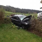Bewusstloser Lenker: Hecke stoppte Auto