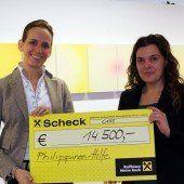 Zumtobel: 14.500 Euro für die Taifun-Opfer