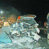 Zwei Todesopfer Horrorcrash in Langenegg /B1