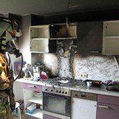 Flammen in der Küche