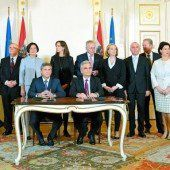 Das Gruppenbild mit sämtlichen Regierungsmitgliedern