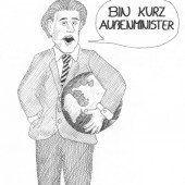 Karikatur. Von Jonas Vögel (14) aus Doren