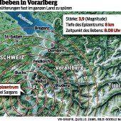 Mittleres Schweizer Erdbeben erschüttert auch Vorarlberg