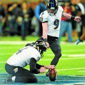 Tucker schoß die Ravens zum Sieg