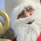 Ein fliegender Nikolaus