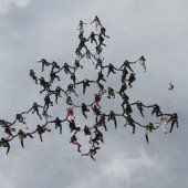 Luftkunst für einen Augenblick