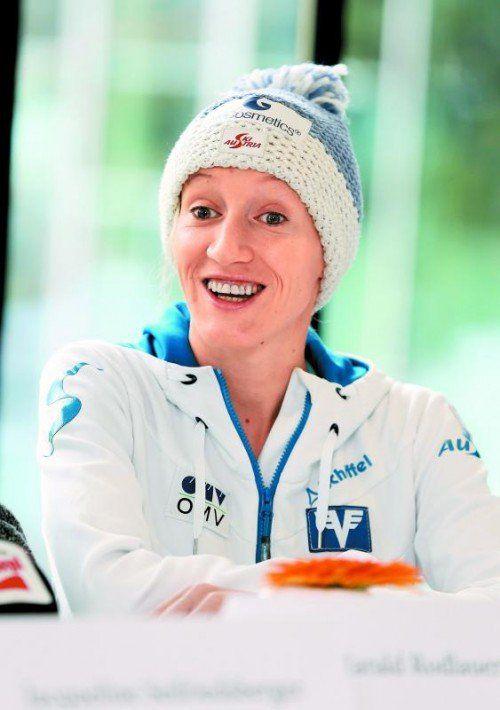 Sotschi ist das große Ziel: Daniela Iraschko-Stolz. Foto: gepa