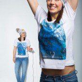 Im Snowboarder-T-Shirt für heimische Boarder