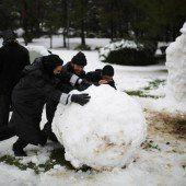 Erster Schnee in Jerusalem