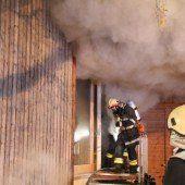 Saunabrand: Großeinsatz
