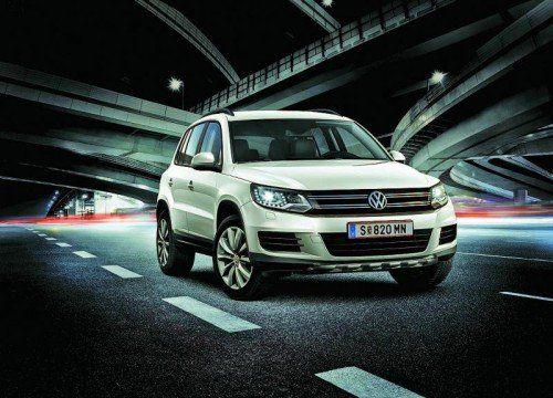 """VW Tiguan: Für ihn offeriert der Österreich-Importeur eine """"coole"""" Sonder-Edition und, bis Weihnachten, einen """"Christmas""""-Preis-Bonus."""