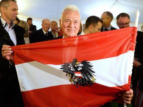 """Zumindest hier hat es Frank Stronach in Österreich ganz nach oben geschafft: Beim """"Wort des Jahres"""". Foto: EPA"""
