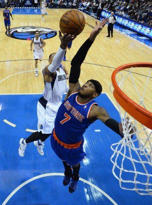 Carmelo Anthony erzielte 34 Punkte beim Sieg der Knicks. Foto: epa