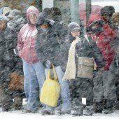 Schneesturm legt US-Ostküste lahm