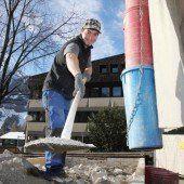 Haus Montafon in Schruns am Entstehen