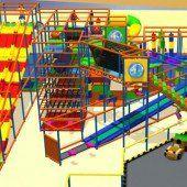 Erster Indoor-Spielplatz nimmt bereits Form an