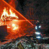 Stallgebäude in Gaschurn komplett niedergebrannt