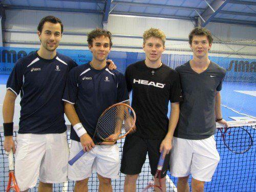 Die Finalisten im Doppel (v. l.): Stefan Bildstein, Alexander Grabher, Marco Jutz und Gerrit Lebeda. Foto: privat