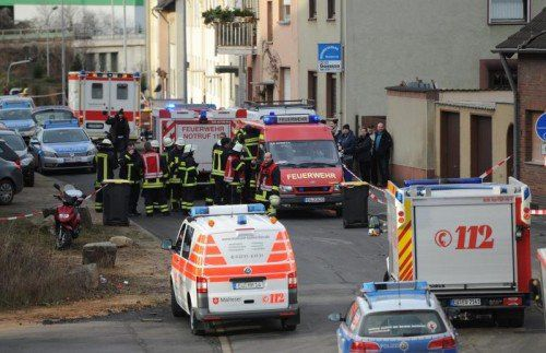 Ein Bauarbeiter wurde durch die Explosion getötet.  FOTO: EPA
