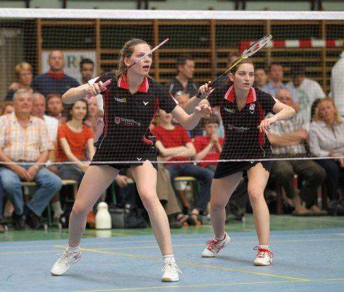Elisabeth Baldauf (l.) und Alexandra Mathis blieben in allen zwölf Damen-Doppelpartien in der 1. Bundesliga siegreich. Foto: diener